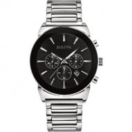 Gents Stainless Steel Black Dial Date Chronograph