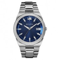Stainless Steel Gents Rd Blue Dial Date 43Mm