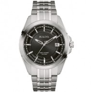 Gents Stainless Steel Rd Black Dial Precisio