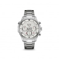 Gents Stainless Steel Rd White Dial Chronogr