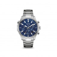 Gents Stainless Steel Rd Blue Dial Marine St