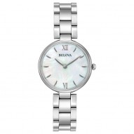 Ladies Stainless Steel Rd White Mop Dial 27Mm
