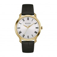Gents Yellow Tone Rd White Dial Rom