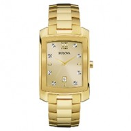 Gents Yellowlow Rect Champagne Dial