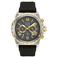 Gents Stainless Steel Yellow Tt Rd Grey Dial M