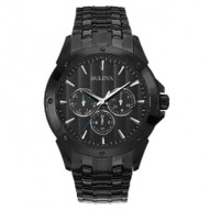Gents Black Ion-Plate Stainless Steel Rd Black D