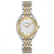 Ladies Stainless Steel Yellow Tt Rd Silver-Whit