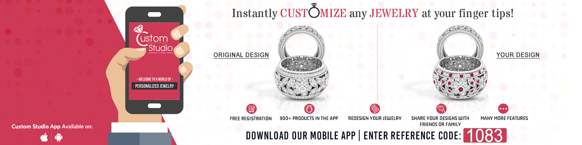 Download our Custom Desing App!
